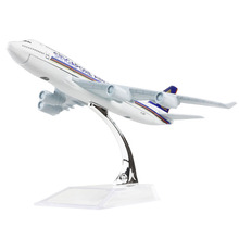 Singapore Airlines Boeing 747 16cm airplane models child Birthday gift plane models toys Free Shipping(China)