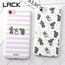 LACK Cute cartoon Plants Cactus Phone Case For iphone 6 Fashion Zebra Stripe Cases For iPhone6 6S Plus Soft Back Cover Fundas(China)