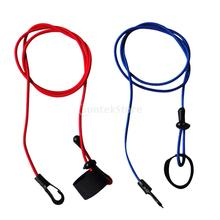 "2pcs/set 11.cm/ 43"" 4mm Strong Durable Bungee Cord Fishing Rod/ Kayak Canoe Paddle Leash with Clip + Hook & Loop"