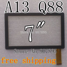 "Lowest $2.2 Capacitive Touch screen replacement Tablet Touch Panel ATM7029 7"" 7inch allwinner a13 Q88 Q8 ATM7013 tablet pc"