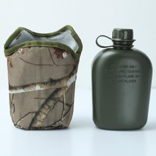 850ml Army Style Patrol Water Bottle Canteen Sport Camping Travel Hiking Supplies With Camo Bag(China)