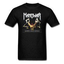 Manowar Gods and Kings T Shirts Men and Women Tees big sizeS-XXXL custom printing(China)