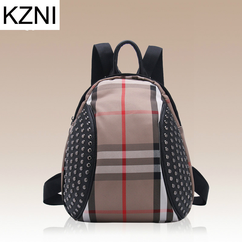KZNI mini backpack women leather luxury big realer fashion large business casual 2017 autumn winter genuine famous sac L010109<br><br>Aliexpress