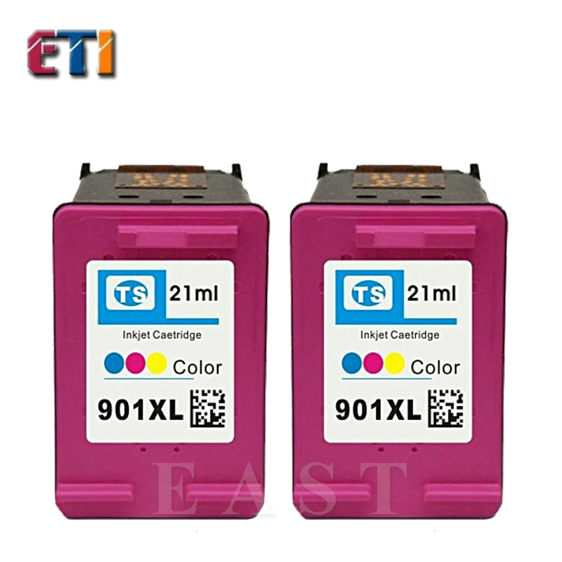 2PK  For HP901XL 901 XL Ink Cartridges Officejet J4500 4550 4550 4580 4640 4680<br><br>Aliexpress