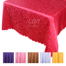 All size Jacquard tablecloth tableclothes Rectangular Round Wedding Party Hotel Decorations