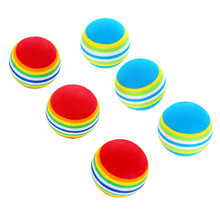 NEW 10PCS/ Lot EVA Golf Soft Rainbow Balls 42mm Golf Swing Training Aids Indoor Practice Sponge Foam Tennis Balls RED/ BLUE