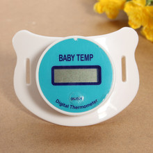 1PC New arrival Convenient Digital LCD Infant Baby Temperature Nipple Dummy Pacifier Thermometer Health Care For Kids(China)