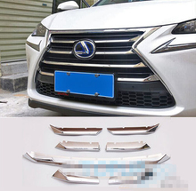 FIT FOR 15- LEXUS NX 300H CHROME FRONT GRILL GRILLE COVER TRIM GUARD MOLDING