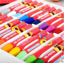 12/18/24/36/48Colors/Set Oil Pastel Crayons Hexagonal Design Holding Posture Wax Crayons for Kids Drawing Tools