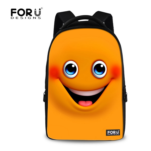 Brand 17 inch Emoji Backpack Canvas 3D Emoji Printing Mens Computer Backpacks Large Women Smiley Student Travel Bagpack Retail<br>