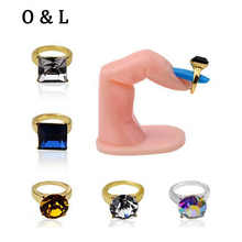 10pcs New Nail Art Rings Glitter Rhinestones Square Round Heart Designs Charm 3d Nail Art Jewelry DIY Beauty Nail Decorations