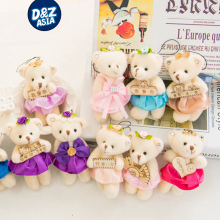 10pcs/lot plush toy wedding pendant body single bear plush pendant mini plush teddy bear