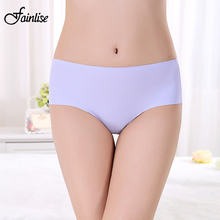 Buy Fainlise Seamless Women Panties Ice Silk Sexy Briefs Ultra-thin Mid Waist Panties Underwear Intimates Traceless Sexy Lingerie
