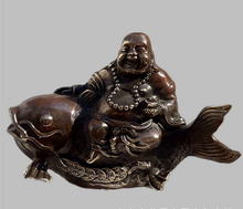 SUIRONG---2017 623+++A Feng Shui Bronze Brass Buddha Maitreya special offer May there be surpluses every year. lucky smiling Bud