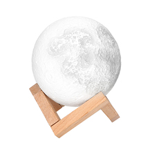 ITimo 3D Moon Night Light Birthday  Valentines Gift  Moonlight Indoor Lighting USB Rechargeable Magical Table Desk Lamp