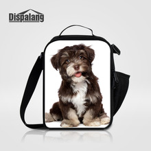Dispalang Insulated Daily Lunch Bag Box Sets Animal Dog Print Portable Food Safe Small Container Thermal Picnic Cooler Lunch Bag(China)
