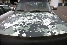 Military Green Digital Camo Vinyl Car Film Air Free Pixel Camouflage Wrap Decal Car Sticker 1.52x30M/Roll