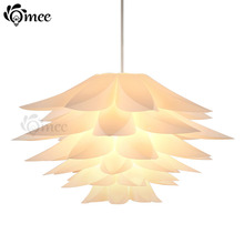 Lily Flower Pendant Light Material Of PVC 47/57CM Lotus Shape Fixture Pendent DIY Lampshade Bedroom / Shops LED Hanging Lamp(China)