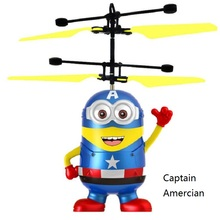 Fly AC High quality Captain American RC Helicopter Flying Minion Shatter Resistant Remote Control Aircraft Toy for Children gift