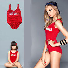 Family Matching Outfits Bae water clothes Sexy Women Swimwear Bikini One Piece Swimsuit Backless Beachwear Family Set