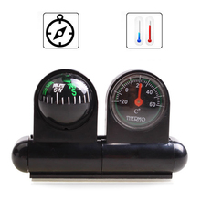 Newest Boats Auto Cars Vehicles Navigation Compass Ball Thermometer With Adhesive Tape Car Styling(China)