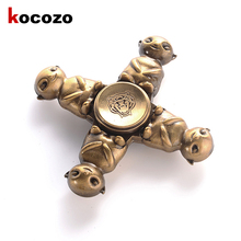 Buy Fidget Spinner Metal Finger Spinner Hand Spinner Spin Long Time Relieve Stress Focus Toy Cute HuBa Shape Finger Gyro Toy for $8.16 in AliExpress store
