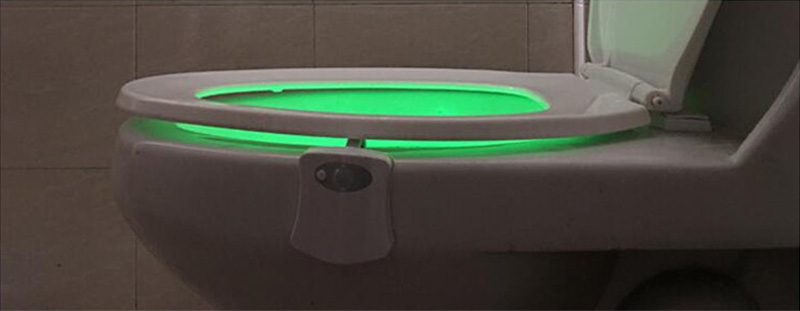 8 Colors LED Toilet Night Light Intelligent Motion Activated Toilet Nightlight Sensitive 3A Battery-operated Toilet Seat Lamps
