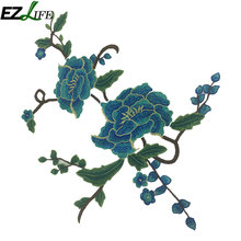 Embroidery Flower Patches High Quality Polyester Patches Ropa For Clothes Garment Decoration Patch Collar Embroidered Parches(China)