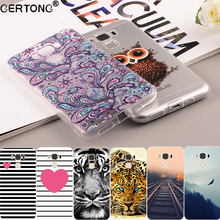 Soft TPU Cell Phone Case For ASUS Zenfone 3 Max ZC553KL ZE520KL Silicone Capa Cat Animal Leopard Wolf Flower Pattern Bags Fundas