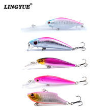 5pcs/lot Fishing Lures High Quality Plastic Hard Baits Artificial Make Minnow/VIB Wobblers Fishing Tackle Crankbait Hooks Y-T168(China)