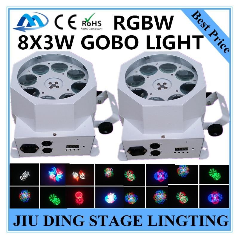 2PCS/ 8X3W motif light RGBW patterns scanning light dmx512 gobo lamp professional dj equipment dyeing lamp<br><br>Aliexpress