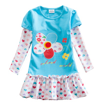 Retail Girl Dresses Children Clothing Kids Dress for Princess Holiday Princess Party Dresses Suit for Autumn Vikita F5061 Mix(China)