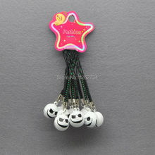 10X White Jack Nightmare Before Christmas Cell Phone Strap JINGLE BELLS Dangle Charms New