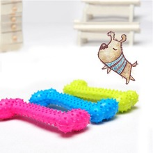 3 Colors Pet Toy Dog Chew Bones Molar Teeth Clean Teeth Bite Bones Resistant Rubber Pig Bone Big Small And Medium-Sized Dog Toys