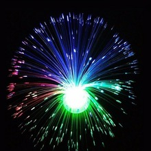 Flower Led Fibre Optic Light Lamp LED Color Changing Fountain Type Night Relaxing Calming Novelty Home Decor Event Party Supplie(China)