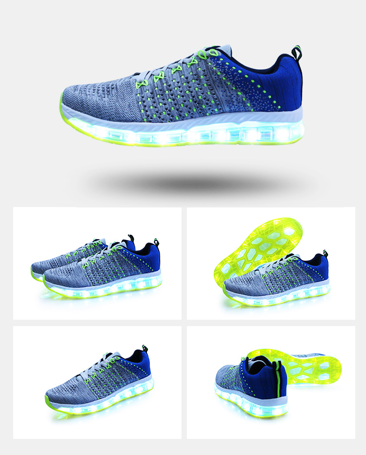 DJSUNNYMIX Brand Luminous Sneakers Women Led Light Luminous Shoes 7 Colors Led Unisex Glowing running sports shoes