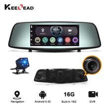 "KEELEAD Car DVR 7"" Android rearview mirror GPS navigator RAM 1GB ROM 16GB WiFi Dual lens camera FHD 1080P Video Record Dash cam(China)"