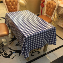Europe waterproof table cloth grid plastic PVC tablecloth No-clean oilproof dining table dust cover for party home decorative