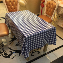 Europe waterproof table cloth grid plastic PVC tablecloth No-clean oilproof dining table dust cover for party home decorative(China)