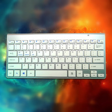 MAORONG TRADING Ultra-thin Wireless Bluetooth keyboard for mac universal keyboard for tablet laptop for imac for macbook(China)
