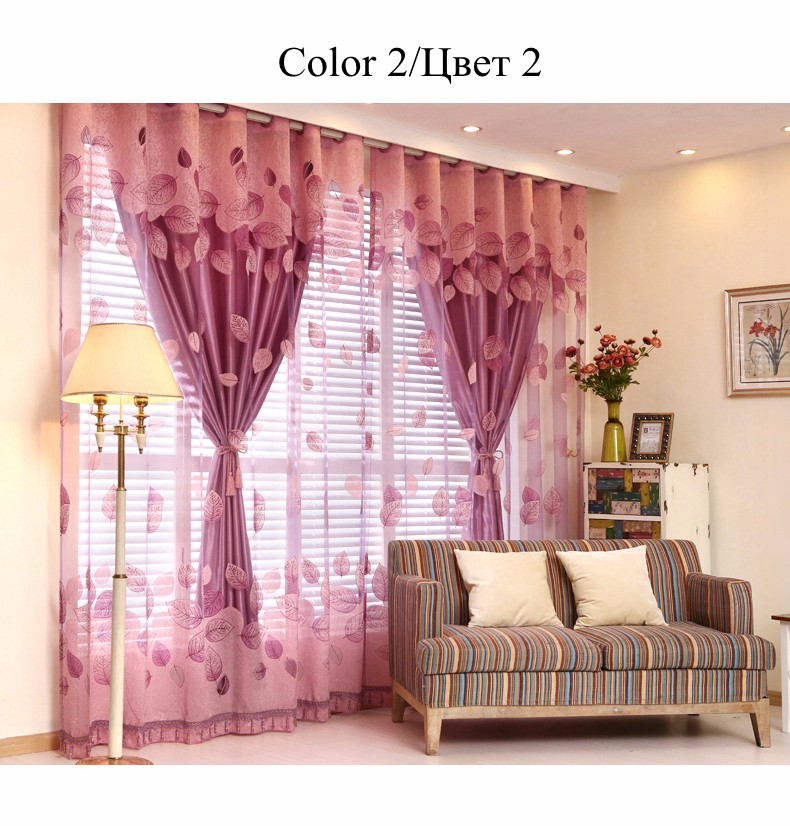 European Royal Curtains 11 Colors Embroidered Voile Curtains for Living Room Drapes Crystal Beaded Curtains Sheer (49)