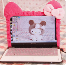 Cute Kitty Cat Cartoon Elastic Laptop Screen Dust Proof Cover LED Computer Cover Set Anti-Dust Protective Case.Home Decoration(China)