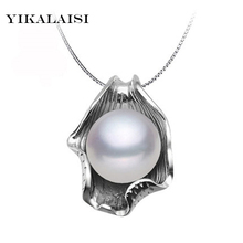 YIKALAISI 2017 Pearl Necklace Pearl Jewelry 925 Sterling Silver Jewelry For Women Natural Freshwater Pearl Seashell Pendants(China)