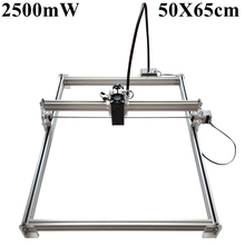 Laseraxe 450nm 2500mW 2.5W DIY Desktop Mini Laser Engraver Engraving Machine Laser Cutter Etcher 50X65cm Adjustable Laser Power