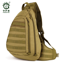 Field Tactical Chest Sling Pack Outdoor Sport A4 One Single Shoulder Man Big Large Ride Travel Backpack Bag Advanced Tactical *