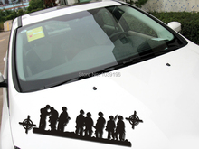 New Style Band of Brothers US Army Stickers Car Whole Body Decals for BMW Benz Audi Fiat Toyota Honda Tesla(China)