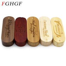 FGHGF LOGO laser engraving rotatable Wooden USB Flash Drive Memory Stick Pendrive 4GB 8GB 16GB 32GB usb creativo U disk gift(China)