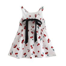 Baby Girl Dress Summer Kids Teenagers Sleeveless Print Pattern Cotton Dresses Clothes For Girls  Children Toddler P2