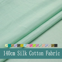 140CM 50%Silk 50% Cotton Free Shipping Silk Cotton Fabric For Silk Lining And Silk Scarf(China)
