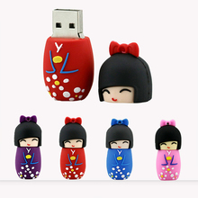 USB Flash Drive 64gb 8gb 16gb 32gb Japanese girl pen drive 128GB 2.0 Memory Stick Storage Device Hot sell 32 gb flash pendrive(China)
